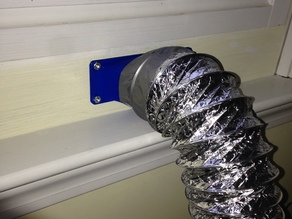 Fan ducts to exhaust printing fumes to the outside