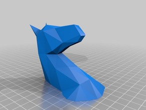 Unicorn Mount (Low Poly) Separated