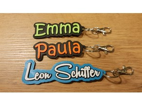 some nameplates / keyrings