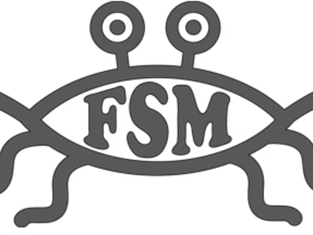 Flying Spaghetti Monster Emblem By Seemikeplay Thingiverse