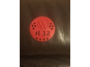 VW r32 Dash Air Vent Badge Replacement