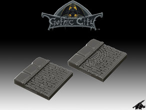 Tilescape GOTHIC CITY Street Tiles - Our New KICKSTARTER is Now LIVE!!!!