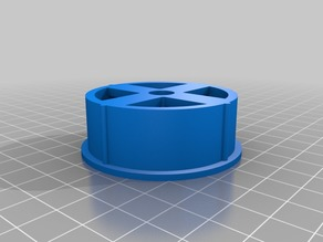 Single / double side spool holder for 52mm spools on 8mm rod