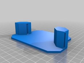 Quad Wall mount with modeled supports