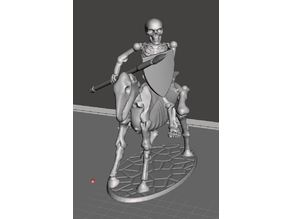 28mm Skeleton Warrior Light Cavalry with Spear & Shield 2
