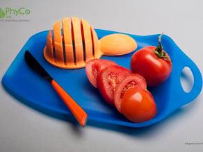 Guida taglio per verdura tonda - Strumento di tecnologia assistiva per non vedenti
