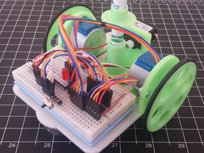 Chassis for Drawing Bot with Batt Holders