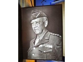 General Patton Lithophane
