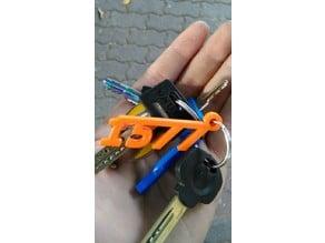 1577 SteamPunk keychain