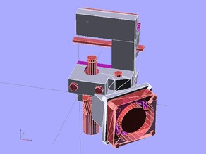 Pico Extruder Mount (bowden) for One-Up / Two-Up printers