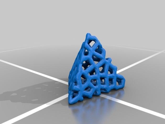 Voronoi-tesselated Tetrahedron
