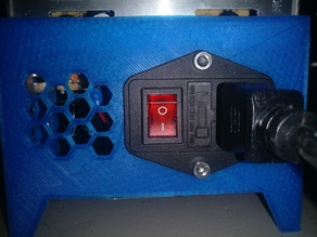 Power Supply cover with switch and mounting tabs