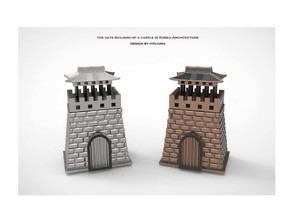 The Gate Building of a Castle in Korea  Architecture & Coin Bank