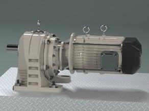 Gear Motor GV22110 - Foot mount