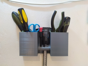 Tool holder for wall