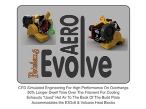 "Aero ""Evolve"" for Tevo Tornado,Flash/ Creality CR10,s,Ender3/ Prusa Mk3"