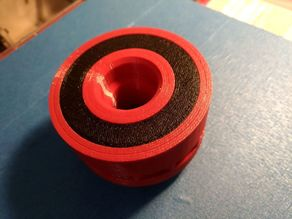 Bigger colored insert for wheels with groove
