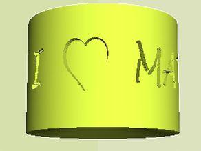 """I ♥ Math"" Gift Cylinder"
