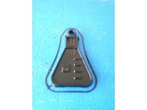 Erlenmeyer Keychain