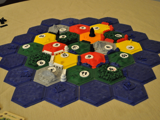 image regarding Settlers of Catan Printable named Settlers of Catan (In depth Established) as a result of trevorclarke - Thingiverse