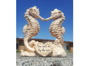 Seahorses wedding cake topper 3d print model Free 3D print model