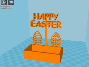Happy Easter Decoration with candy box