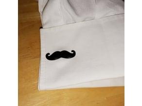 Mustache Cufflink / Schnurrbart Manschettenknöpfe