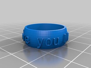 My Customized Ring (with optional text) creator and customiser
