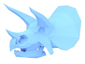 Low Poly Triceratops Skull