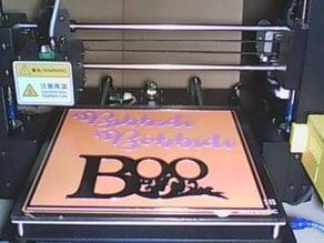 Bibbidi Bobbidi Boo Halloween Sign