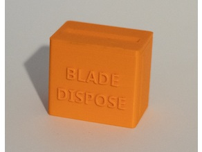 Razor Blade Disposal Box
