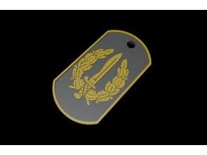 Llavero - Chapa GOE (Grupo Operaciones Especiales)