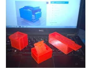 Slide Top Rabbet Box (Customizer for 3D Printers and CNC)