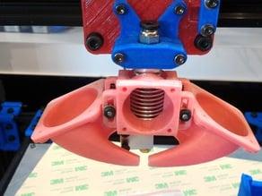 E3d V6 Valcano center piece for dual duct fans
