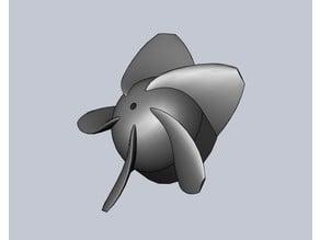 Impeller for hair dryer