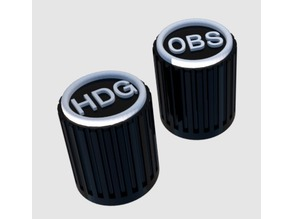 Knob HDG and OBS B58