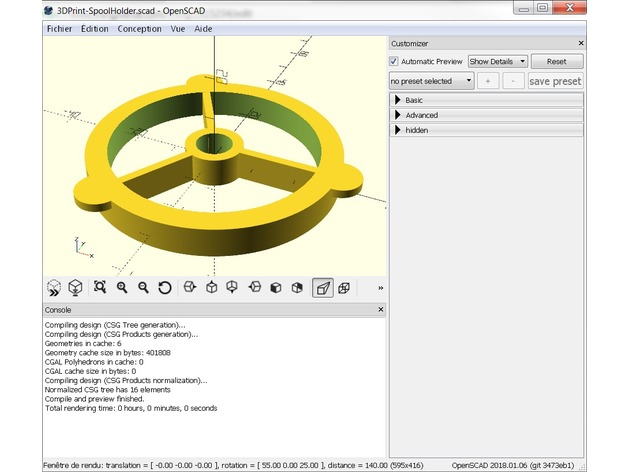 CUSTOMIZER WITH OPENSCAD by jeff38100 - Thingiverse
