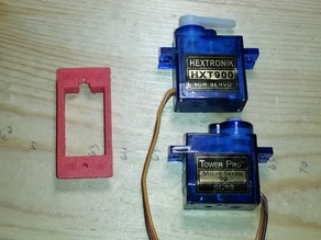 Servo Box Bracket HXT9000 SG90 9g micro servo