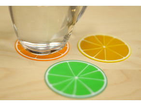 Multi-Color Citrus Coaster
