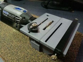 Table saw for Dremel 4000 (with drill bracket Fixed)