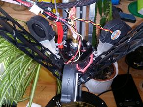 Fan adapter for Rostock Max v2 to use BD5015 radial fan