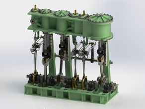 Triple Expansion marine steam engine update 1