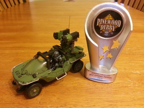 The Ultimate Halo Warthog Pinewood Derby Car