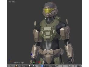 Halo Reach - Noble 6 - Mark 5 armor set including Helmet