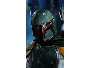 Star Wars Boba Fett Lithophane