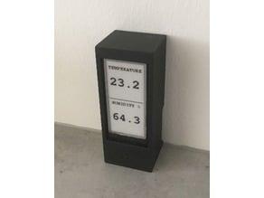 Temperature / Humidity display case