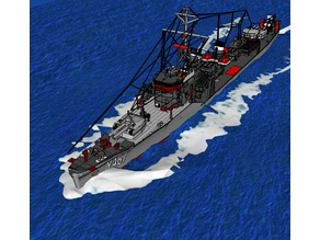 RC Y467 harekaze model (from haifuri) (customizable) RC