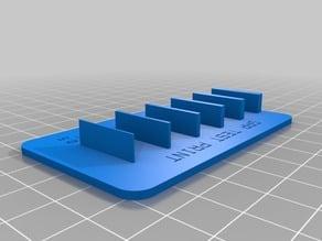 My Customized Wall / Gap Test Print v2 - 0.5 - 3 mm (0.5mm steps)
