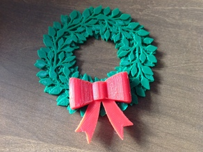 Christmas Wreath with large bow