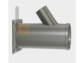 """Dust Collection Adapter - 4"""" with 2"""" Y"""